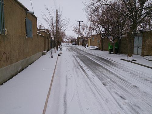 گزارش تصویری از اولین برف زمستانی دشت بیاض